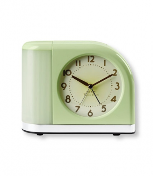 Instead of a loud buzz, the Moon Beam alarm clock ($49) wakes you up ...