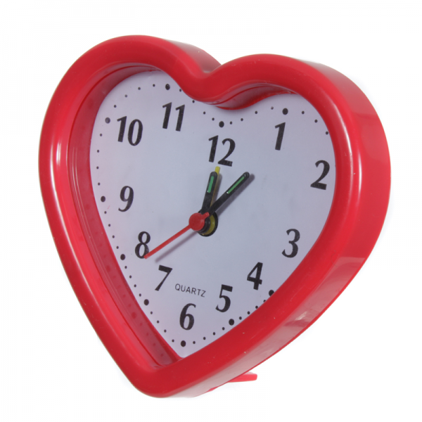 Red Heart Shape Alarm Clock 0539