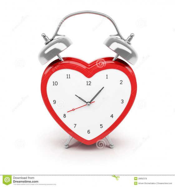 Heart Shaped Alarm Clock Royalty Free Stock Photos - Image: 28892378