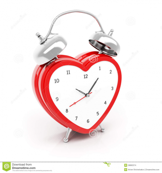 Heart Shaped Alarm Clock Stock Images - Image: 28892374