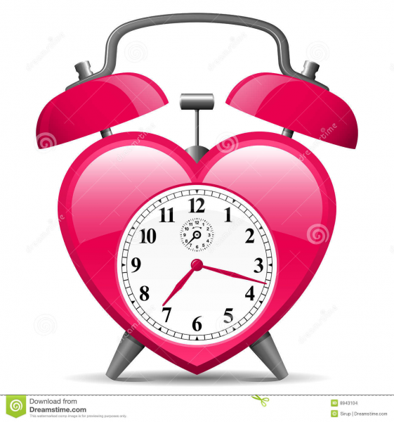 Alarm Clock In Heart Shape Stock Images - Image: 8943104