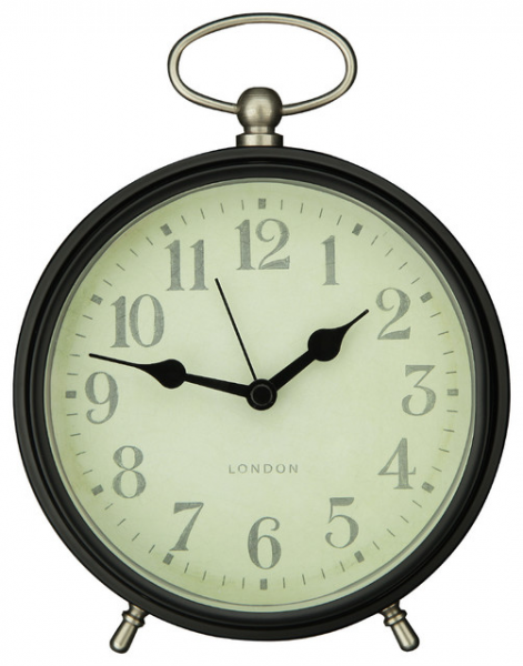 Adeco Vintage-Inspired Modern Table Top Clock farmhouse-wall-clocks
