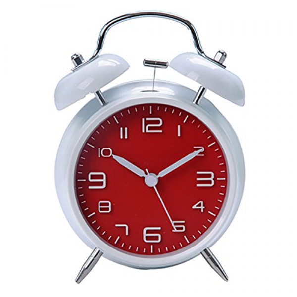 ... Retro Vintage bedside Twin Bell Alarm Clock With Loud Alarm and