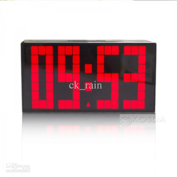 Snooze Alarme Red Light Led Digital Clock Table Grande numérique ...