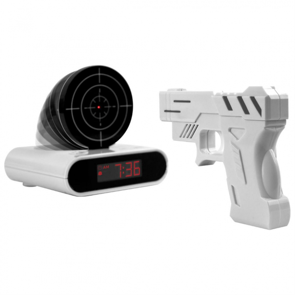 ... & Novelty / Trademark Games™ Gun And Target Recordable Alarm Clock