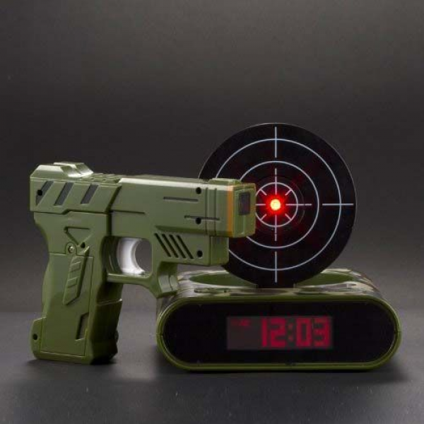 Gun Target Alarm Clock- emma would love | Snips and Snails... | Pinte ...