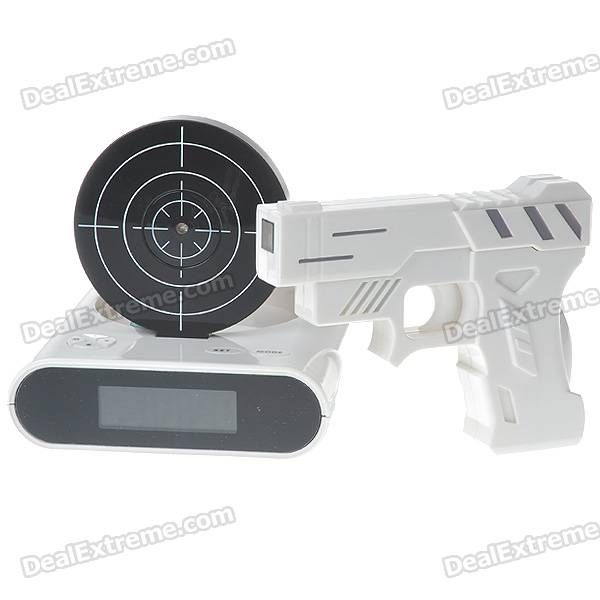 Gun Target Shooting Alarm Clock Set | Hi Ho, Hi Ho.... | Pinterest