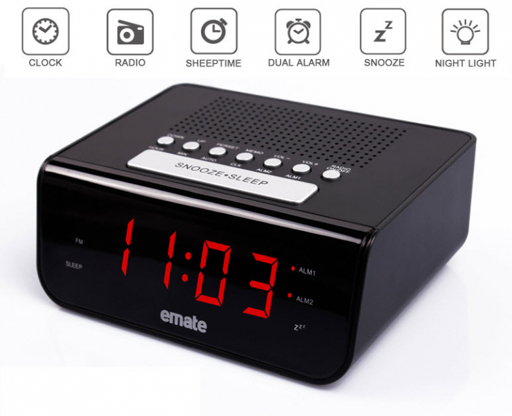 ... Dual alarm clock Multi-function alarm clock Thermometer Creative Clock
