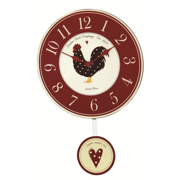 London Clock Co Red Country Kitchen Wall Clock - London Clock Co from ...