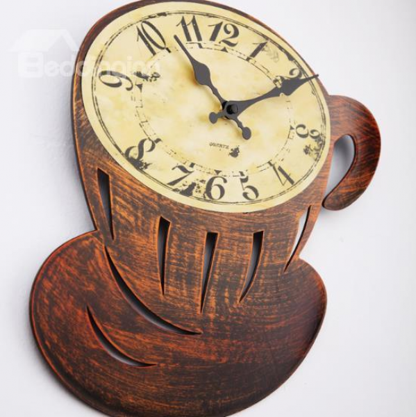 ... Arrival Beautiful Antique Coffee Cup Style Wall Clock - beddinginn.com