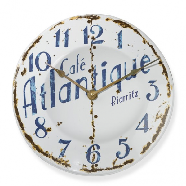 Cafe Atlantique Enamel Wall Clock | Williams-Sonoma