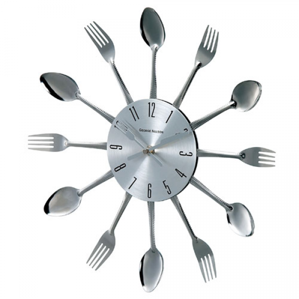 ... Metal Fork And Spoon Clock Control Brand Wall Mounted Clock Clo