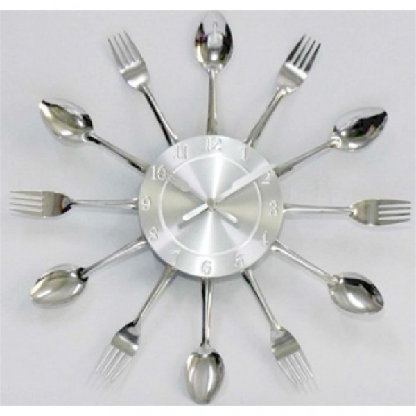 Fork and Spoon Dining Wall Clock - Retro Modern