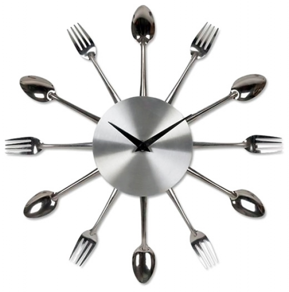 where would you hang the kitchen cutlery clock with all the forks and ...
