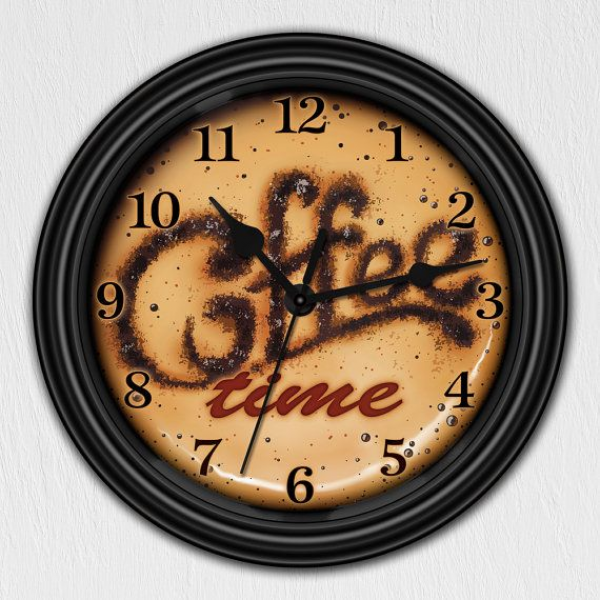 Coffee kitchen wall clock kitchen wall clocks www top clocks com - Coffee themed wall clocks ...