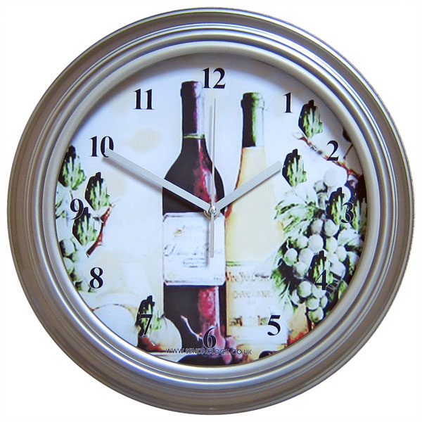 Wine Bottles Antique Wall Clock