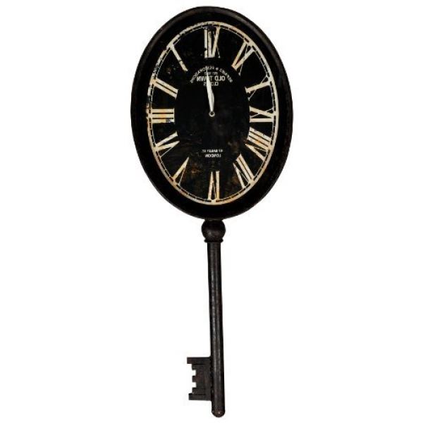 ... Key Shaped Wall Clock, 32-1/2-Inch High - Large Analog Clock For Wall