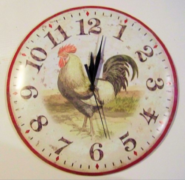 Antique style country rooster kitchen farmhouse wall clock Review