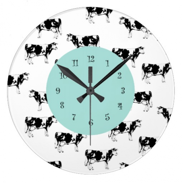 Country Cow Kitchen Wall Clocks | Zazzle