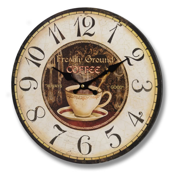 Freshly Ground Coffee Clock (6350) | Table And Station Clocks ...