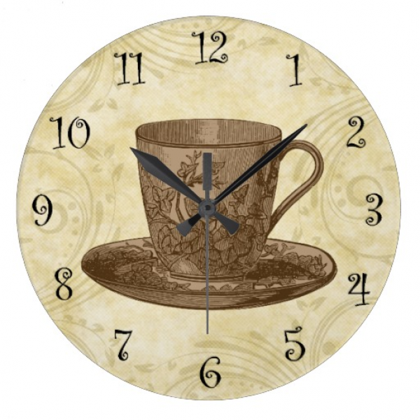 Coffee Kitchen Wall Clocks | Zazzle