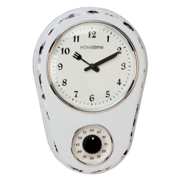 ... Kitchen Wall White Clock with Timer. | Wall Clocks | Crusader Gifts