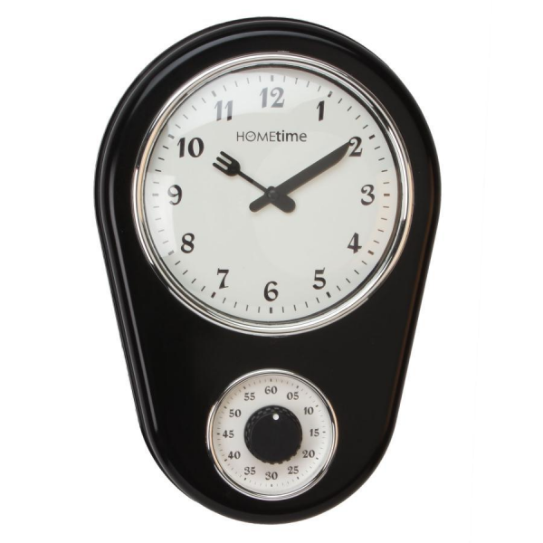 ... Style Kitchen Wall Clock with Timer. | Wall Clocks | Crusader Gifts