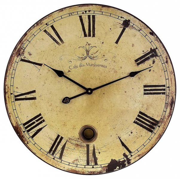 Large Wall Clock w Pendulum - Rustic - Wall Clocks - by ivgStores