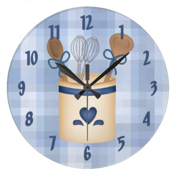 Cute Decorative Square Kitchen Wall Clock | Zazzle