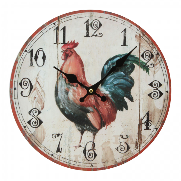 Hometime Wall Clocks 30cm MDF Rooster Kitchen Wall Clock Peckham Rye ...