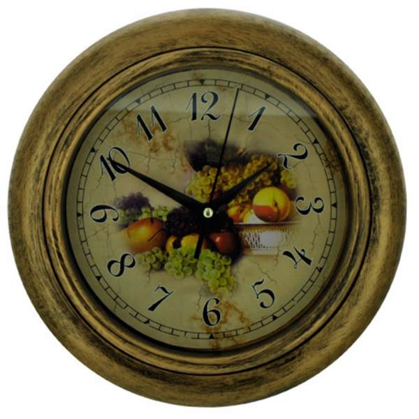 FRUITS PLASTIC WALL CLOCK KITCHEN DECOR 10 New Fast FREE US Shipping