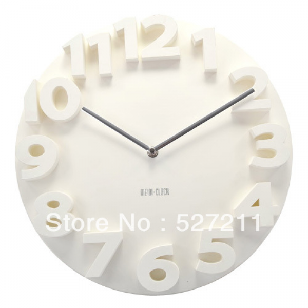 Digit Modern Contemporary Kitchen Office Home Decor Round Wall Clock ...