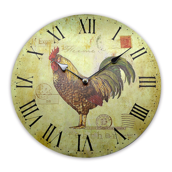 French Cockerel Kitchen Wall Clock | Bronte Rose