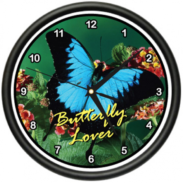 Butterfly Wall Clock Butterflies Kitchen Home Decor | eBay