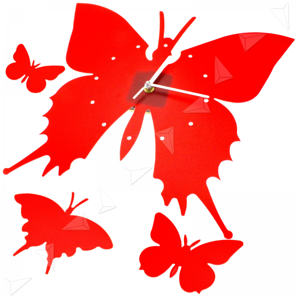 ... Artistic Butterfly Living Room Kitchen Wall Home Clock Red New | eBay