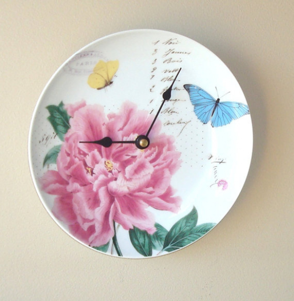 Wall Clock / Butterfly Wall Clock / Kitchen Clock / Unique Wall Clock ...