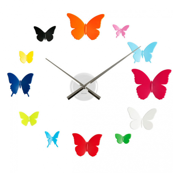DIY Butterflies Wall Clock kids, karlsson, multi