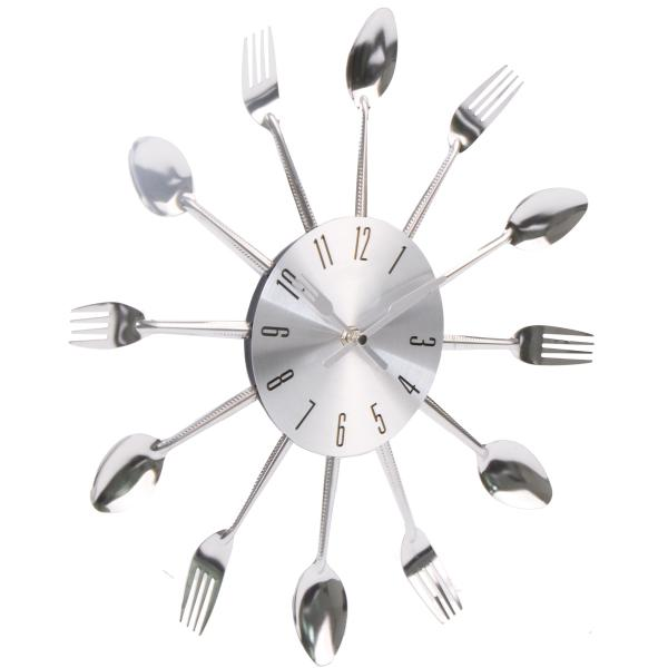 Homewares - Decor Clocks - Fork and Spoon Wall Clock With Numbers ...