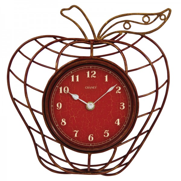 Chaney 10 Red Apple Wall Clock 46061