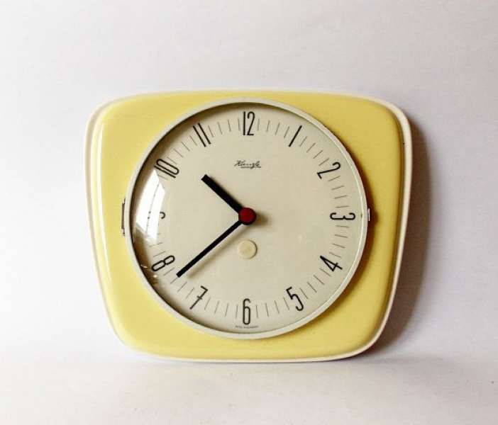 Vintage Art Deco style 1960s Ceramic Kitchen Wall clock KIENZLE Made ...