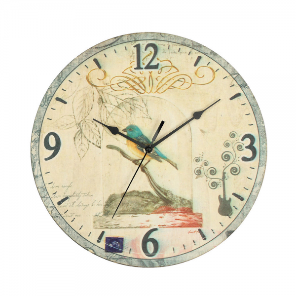 Large Vintage Style Rustic Wall Clock Shabby Chic Retro Home Kitchen ...