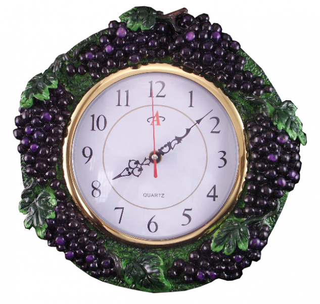 Luxury Grape Decor for Kitchen : Grape Wall Clock
