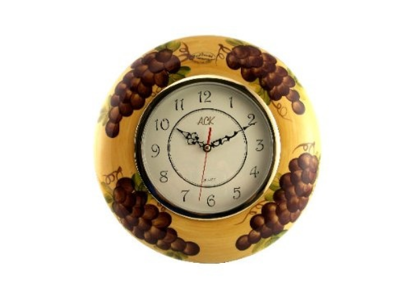 Tuscany Grape Wine Decor Kitchen & Home Clock Wall Clock
