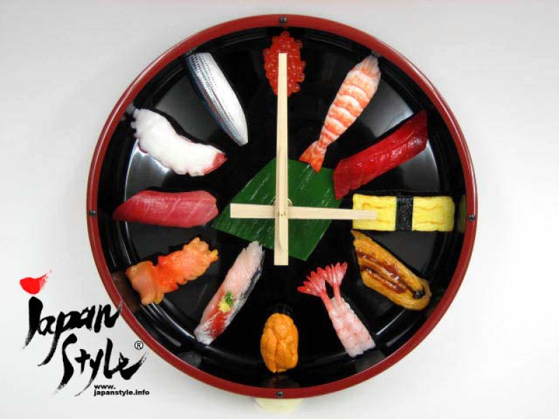 ... No Problem Japanese SUSHI Wall Clock : large size « JAPAN Style