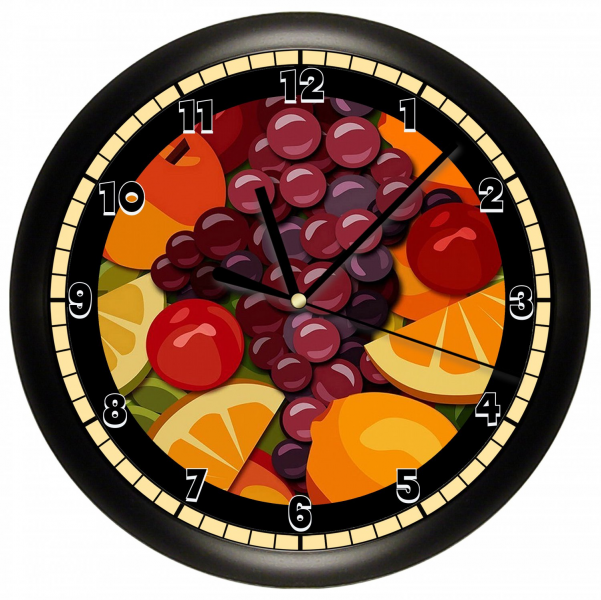 FRUIT WALL CLOCK CUTE GIFT ART DECOR ROOM KITCHEN FOOD