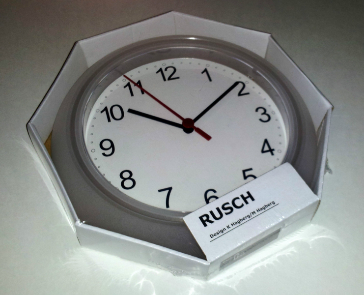 Wall clock ikea for bedroom, living room bathroom kitchen watch time ...
