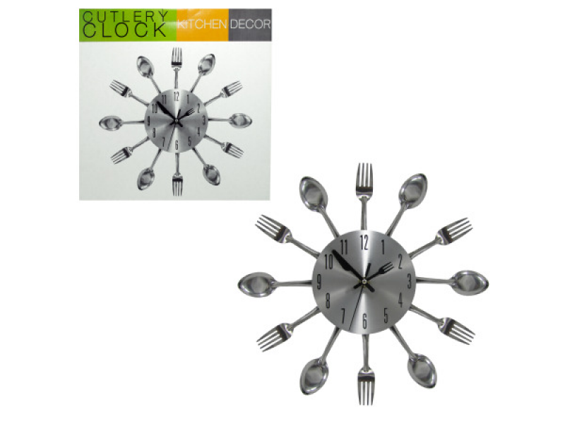 Wholesale Kitchen Cutlery Wall Clock - Clocks - bulk buys | Home ...