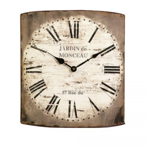 French Style Decorative Wall Clock with Roman Numerals Home & Kitchen