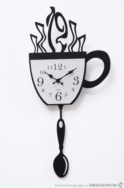 15 Wonderful Designs of Kitchen Wall Clocks | Home Decorations