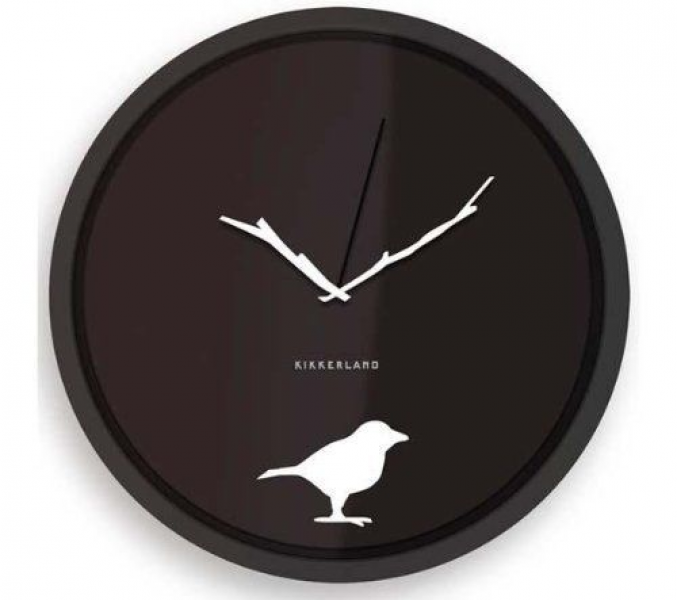 Kikkerland Early Bird Wall Clock Home Kitchen Decorative New Fast ...